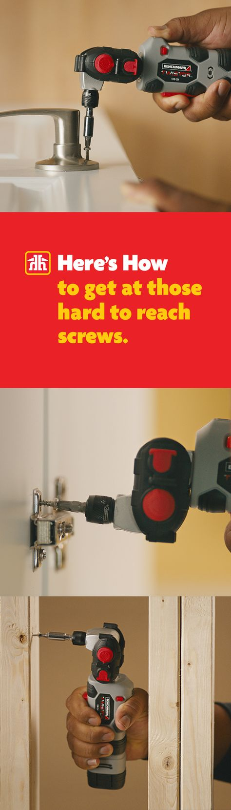 Finally, you can get at those hard to reach screws. #HeresHow Only $49.97 and only at Home Hardware.