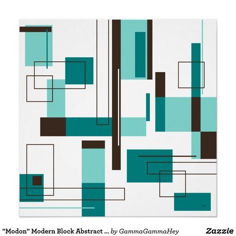 Minimalist Bauhaus Minimalist Mid Century Fabric Printed by Spoonflower BTY