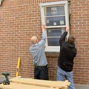 Install A Full Frame Replacement Window Removing Old Trim And Measuring For A New Window In A Brick Wall Exterior Brick Window Installation Brick Wall