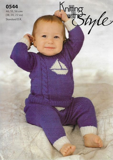f8ca3f21db80 Baby Matinee Coat Bonnet   Booties Patons 1560 knitting pattern DK ...