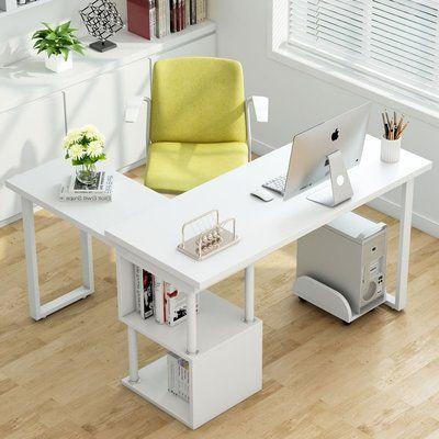 Symple Stuff Suzan L Shape Computer Desk Color White Cheap