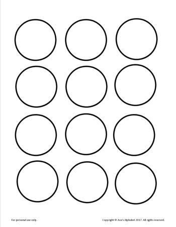 Gold Coins Of Appreciation Blank From Ava S Alphabet Printable Circles Templates Printable Free Circle Template
