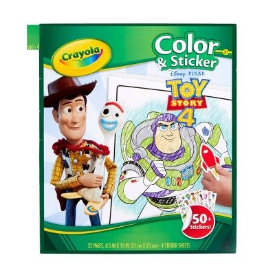 Crayola 32pg Toy Story 4 Color Sticker Book Coloring Stickers Toy Story Coloring Pages Sticker Book