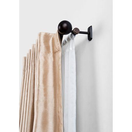Free Shipping Buy Better Homes And Gardens Double Curtain Rod Oil Rubbed Bronze At Walmart Com Shabb Double Rod Curtains Double Curtains Bronze Curtain Rods