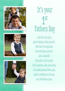 New Dad To My Daddy On Our First Father's Day Add by PoetryGifts