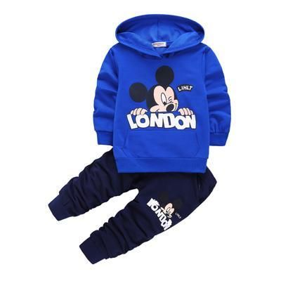 Toddler Baby Boy Girls Unisex Clothes Warm Hooded Sweatshirt+Pants Outfits 0-3T