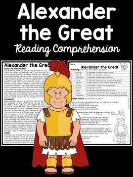 Alexander The Great Biography Reading Comprehension Worksheet