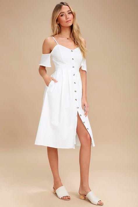 White Button Dress,button dress,button dress,