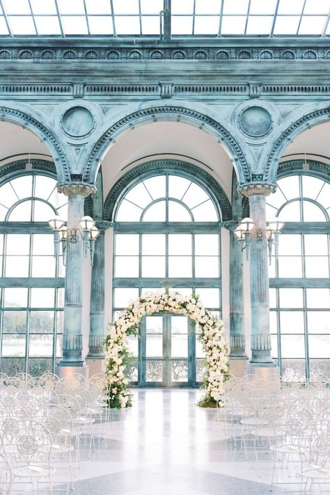 From the editorial, Classic Palm Beach Wedding Filled With Chic Details. This wedding is sure to stand the test of time. Take a look at all the classic touches in the full gallery on SMP.com! | Photography: @sheachristinephoto #stylemepretty #weddinginspiration #weddingceremony #whitewedding