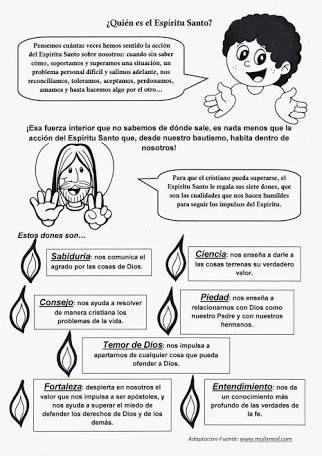 Resultado De Imagen Para Los Dones Del Espiritu Santo Para Niños Bible Study For Kids Catholic Kids Bible Lessons For Kids