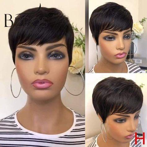 Beeos Pixie Short Cut Wig Straight Glueless