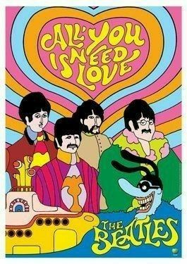 BEATLES - All you need is love - Yellow Submarine artistic poster affiche Yellow Submarine Movie, Festa Yellow Submarine, Les Beatles, Beatles Art, Beatles Poster, Beatles Quotes, Beatles Love, Janis Joplin, Ringo Starr