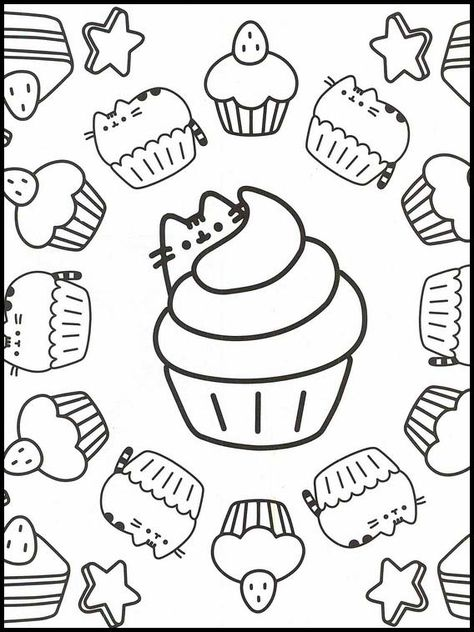 Pusheen Unicorn Coloring Pages