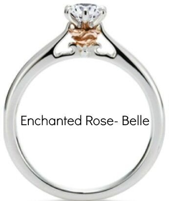 belle disney princess enement ring beauty and the beast - Disney Princess Wedding Rings