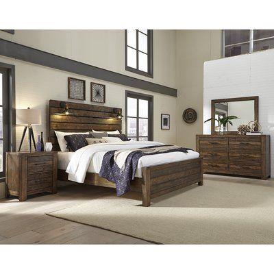 Winston Porter Shenk Standard 4 Piece Bedroom Set White Wood