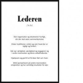 Persontype Lederen Plakat Tekst Citater Tekster Sjove Tekster