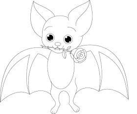Desenho De Morcego Para Pintar Colorir Desenho De Morcego
