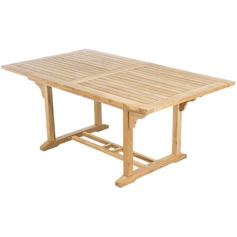 Tavoli In Legno Da Esterno Allungabili.Tavolo Da Giardino Allungabile Con Piano In Legno L 170 X P 100 Cm