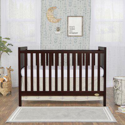 Dream On Me Springfield 2 In 1 Convertible Crib Color Espresso In 2020 Cribs Convertible Crib Grey Walls