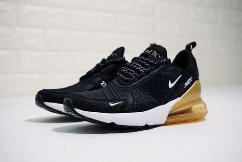 Nike Air Max 270 Herren Schuhe Weiß Schwarz Gold AV7892 100