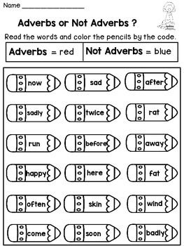 Adverbs Worksheets Nouns Verbs Nouns Verbs Worksheets Nouns