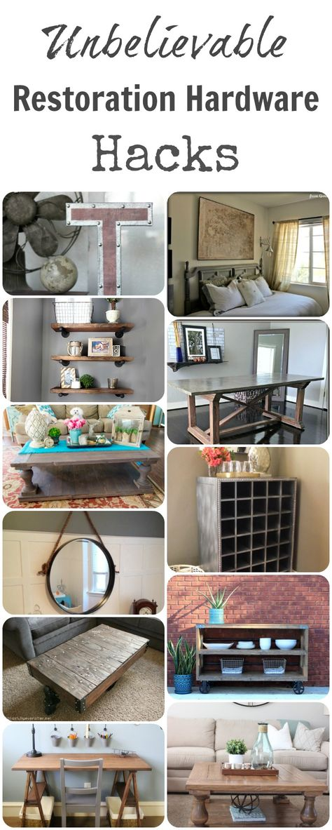 I LOVE Restoration Hardware, but it is SOO expensive. Here are some amazing ways to DIY your own home decor to get the same look. These projects are unbelievable! They …