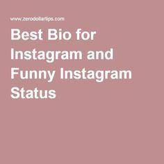 Best Bio For Instagram And Funny Instagram Status Good