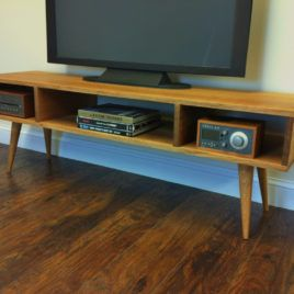 Image Of Small Mid Century Modern Media Console Tv Stand With