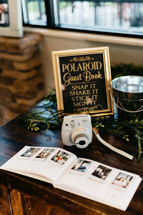 black and gold polaroid wedding photo guest book ideas photos guests Top 20 Polaroid Wedding Decor Ideas Wedding Ceremony Ideas, Wedding Book, Wedding Signs, Our Wedding, Wedding Photos, Dream Wedding, Outdoor Ceremony, Polaroid Wedding Guest Book, Wedding Photo Guest Book