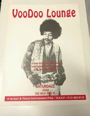 Hippie Woodstock Era Sign Original Vintage Jimi Hendrix Poster Nyc