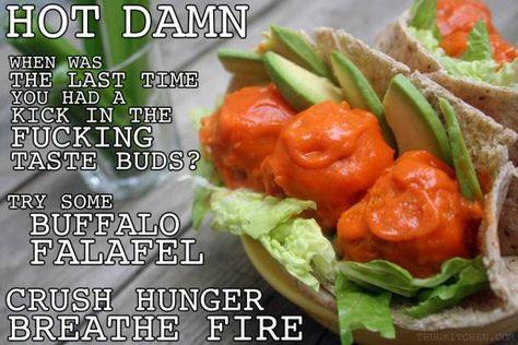 """Thug Kitchen"" Buffalo Falafel Balls"