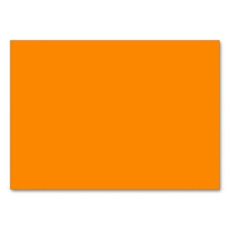 Pure Bright Orange Customized Template Blank Business Card - blank business card template