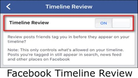 Facebook Timeline Review - How to Enable Facebook Timeline Review