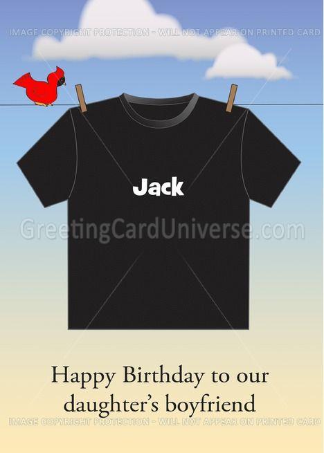 Custom Name Daughters Boyfriends Birthday T Shirt Card Ad