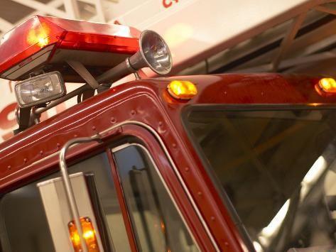 Red Fire Truck Photographic Print In 2020 Fire Trucks Truck Horn Fire