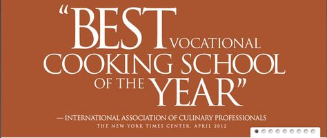 "The International Culinary Center was named ""Best Vocational Cooking School of the Year"" by The International Association of Culinary Professionals.  http://www.internationalculinarycenter.com"