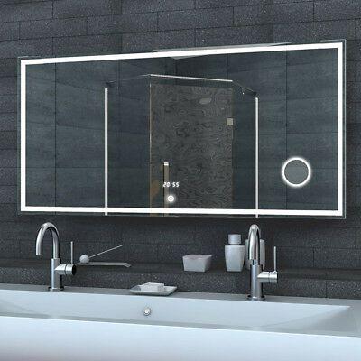 Badezimmer Spiegel Mit Uhr Spiegel Badkamer Badkamerspiegel Make Up Spiegel