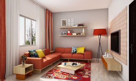 Get the exact look hire  designer for free with livspace delhi bangalore bengaluru hyderabad interiors livingroom homedecor homedesign sofa also pop color living room neutral walls rh pinterest