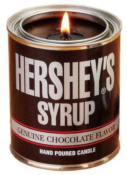 25 Hour Burn Time New Hershey/'s Chocolate Syrup Tin Scented Candle 6 oz