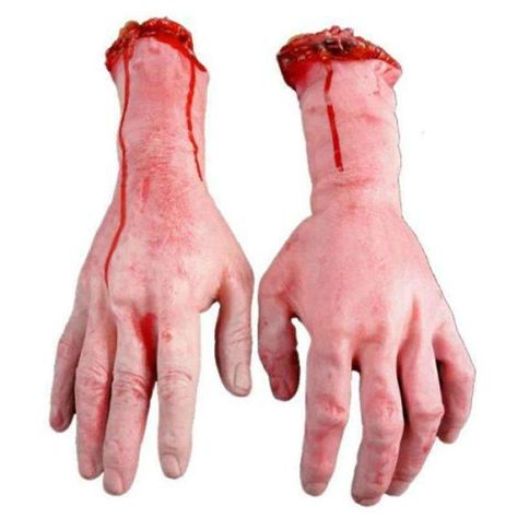 5Pcs One Hand Terrible Severed Fingers Halloween Prop Bloody Chop Body Parts