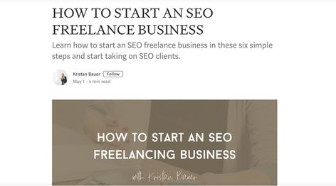 HOW TO START AN SEO FREELANCE BUSINESS