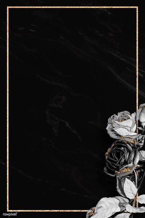 Blank floral golden frame vector | premium image by rawpixel.com / NingZk V.