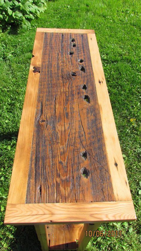Reclaimed Barnwood Sofa Table/Hall Table