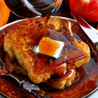 Crazy good yet distinctive, this Pumpkin French Toast will knock your socks off. It is made with pumpkin butter and is the perfect way to start the morning on weekends and holidays—not just during the fall, but for early spring Maple Syrup Harvest season that runs through April. Recipe includes variations for Grand Pumpkin Spice French Toast with Bourbon made with Grand Marnier®