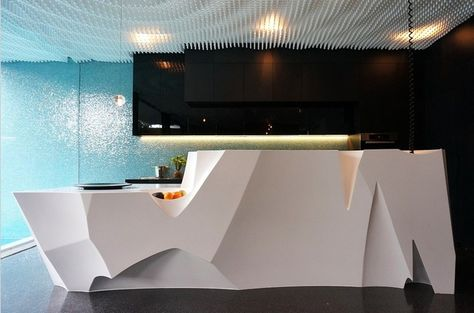 Formed Reception Desk With Corian®. | Corian® For Commercial Applications |  Pinterest