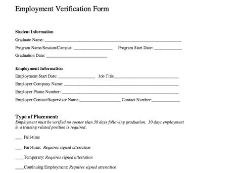 Employment Verification Form Sample Fair Thsu Tctcm Tctcm On Pinterest