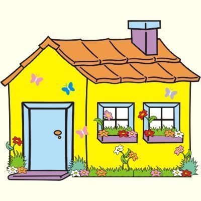 House Construction Clipart House Drawing For Kids Art Drawings For Kids House Illustration