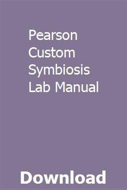 Pearson Custom Symbiosis Lab Manual Custom Symbiosis Detroit Diesel