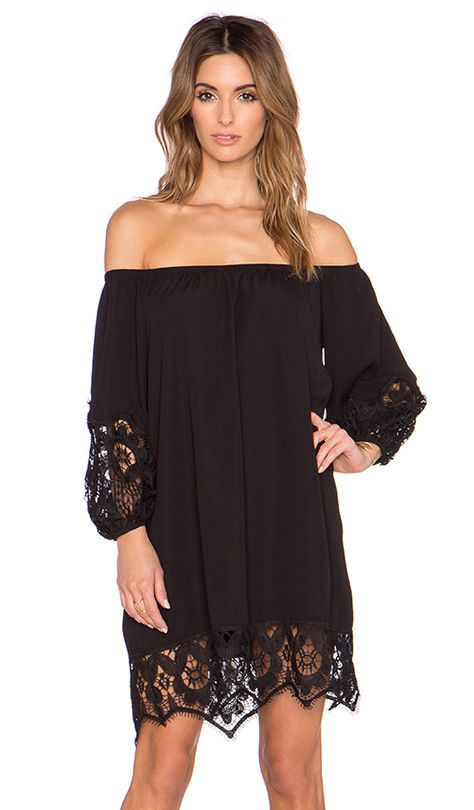 22439904d6db Hollow Out Lace Paneled Off the Shoulder Dress