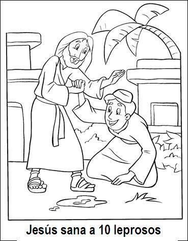 Me Aburre La Religion Diez Leprosos Son Sanados Paginas Para Colorear De Biblia Jesus Sana Escuela Dominical Para Ninos